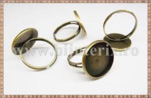 Baza inel cu platou rotund 16mm - patinat