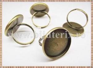 Baza inel cu platou rotund 20mm - patinat