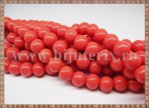 Margele - sticla acrilica 10mm - portocaliu (10buc)