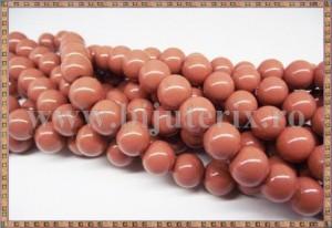 Margele - sticla acrilica 10mm - maro cacao cu lapte (10buc)