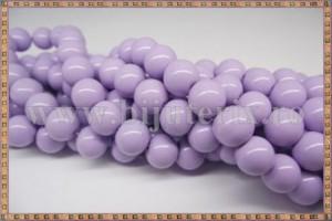 Margele - sticla acrilica 10mm - mov - lila (10buc)