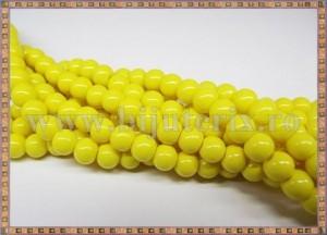 Margele - sticla acrilica 6mm - galben (10buc)