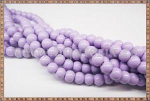 Margele - sticla acrilica 6mm - mov - lila (10buc)