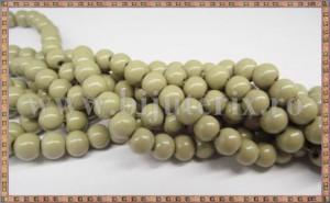 Margele - sticla acrilica 6mm - kaki pal (10buc)
