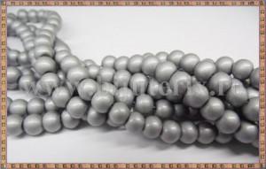 Margele - sticla acrilica 6mm - gri metalizat (10buc)