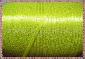 Panglica satin galben 0,3cm - 5m
