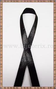 Panglica satin negru 0,6cm - 1m