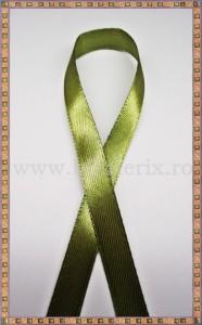 Panglica satin verde-kaki 1cm - 1m