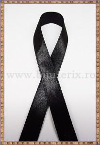 Panglica satin negru 1cm - 1m