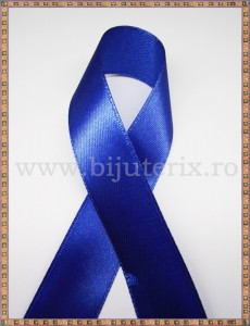 Panglica satin albastru 2,5cm - 1m