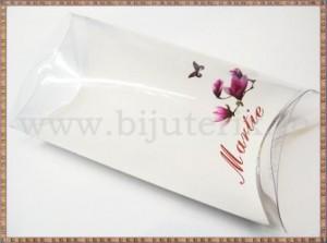 Set carton mare  + suport acetofan - Martie flori mov - 10buc