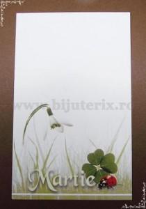 Carton martisor Martie 9x5,5cm - model 19 (50buc)