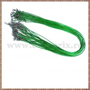 Snur colier ata cerata verde iarba 45cm