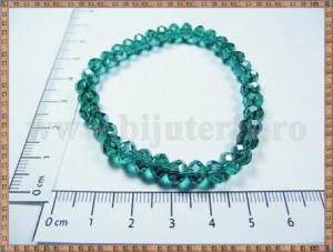 Bratara cristal verde smarald