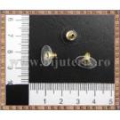 Dopuri cercei - plastic + auriu (20 buc)