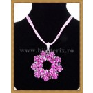 Dark Pink Flower Necklace