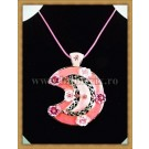Pink Half Moon Necklace
