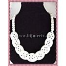 Colier Dalmatian alb & negru