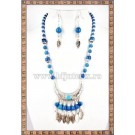 Colier+cercei Amerindian style - turcoaz