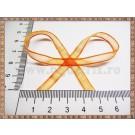 Organza 6mm x 1m - portocaliu