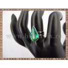 Inel Lacrima sidef verde