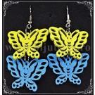 Cercei Butterflies Galben & Turcoaz