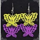 Cercei Butterflies Galben & Mov