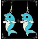 Cercei Delfin - turcoaz