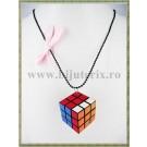 Colier Cub Rubik - funda roz