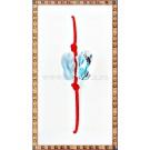 Bratara Lucky charm Fluturas cristal Swarovski 10mm aquamarine