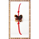 Bratara Lucky charm Fluturas cristal Swarovski 10mm maro