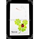 Carton martisor Martie 9x5,3cm - trifoi - 10buc