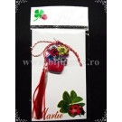 Martisor Cos flori - roz - complet
