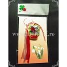 Martisor Cos flori - rosu - complet