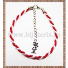 Bratara Snur martisor 3mm cu decor