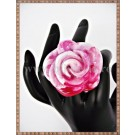 Inel Trandafir roz si alb