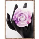 Inel Trandafir lila si roz