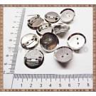 Ace de brosa platou 2,5cm (10buc) - argintiu