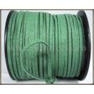 Snur imit. piele intoarsa 3x1,5mm - verde -1m