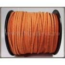 Snur imit. piele intoarsa 3x1,5mm - portocaliu -1m