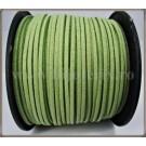Snur imit. piele intoarsa 3x1,5mm - verde deschis -1m