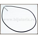 Snur colier silicon mat - negru-1 buc