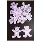 Ursulet roz lemn - 3cm (10buc)