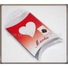 Set carton mic + suport acetofan - Martie rosu gargarita - 10buc