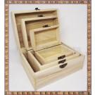Cutii lemn natur - set 3bucati CL 10