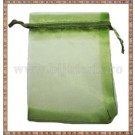 Saculet organza 11x8,5cm verde kaki