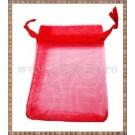 Saculet organza 8,5x7cm rosu