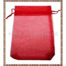 Saculet organza 16x11cm rosu