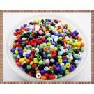 Margele nisip 3mm - mix multicolor (50gr)