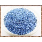 Margele nisip 2mm - transparente cu interior albastru (50gr)